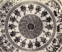 Interior of the dome of Swami Narayan's temple [Junagadh] 2653